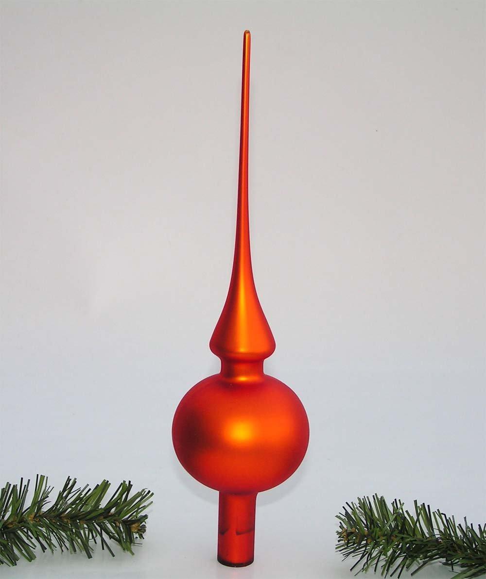 Festliche-Weihnachtsbaumspitze-aus-Glas-Weihnachtsbaum-Baumschmuck-Christbaumspitze-Baumspitze-Baum-Spitze-26-cm-orangegoldmatt-4320