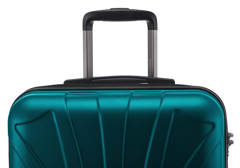 SUITLINE-Suitline-Hartschalen-Koffer-Koffer-Trolley-Rollkoffer-Reisekoffer-TSA-66-cm-Koffer-66-cm
