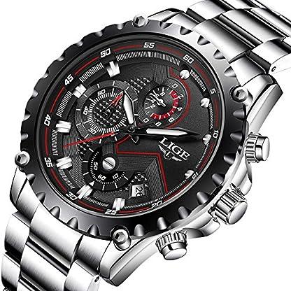 Armbanduhr-fr-Herren-sportlich-luxurises-Design-Quarzwerk-wasserdicht-Edelstahl-Chronograph-mit-schwarzem-Zifferblatt