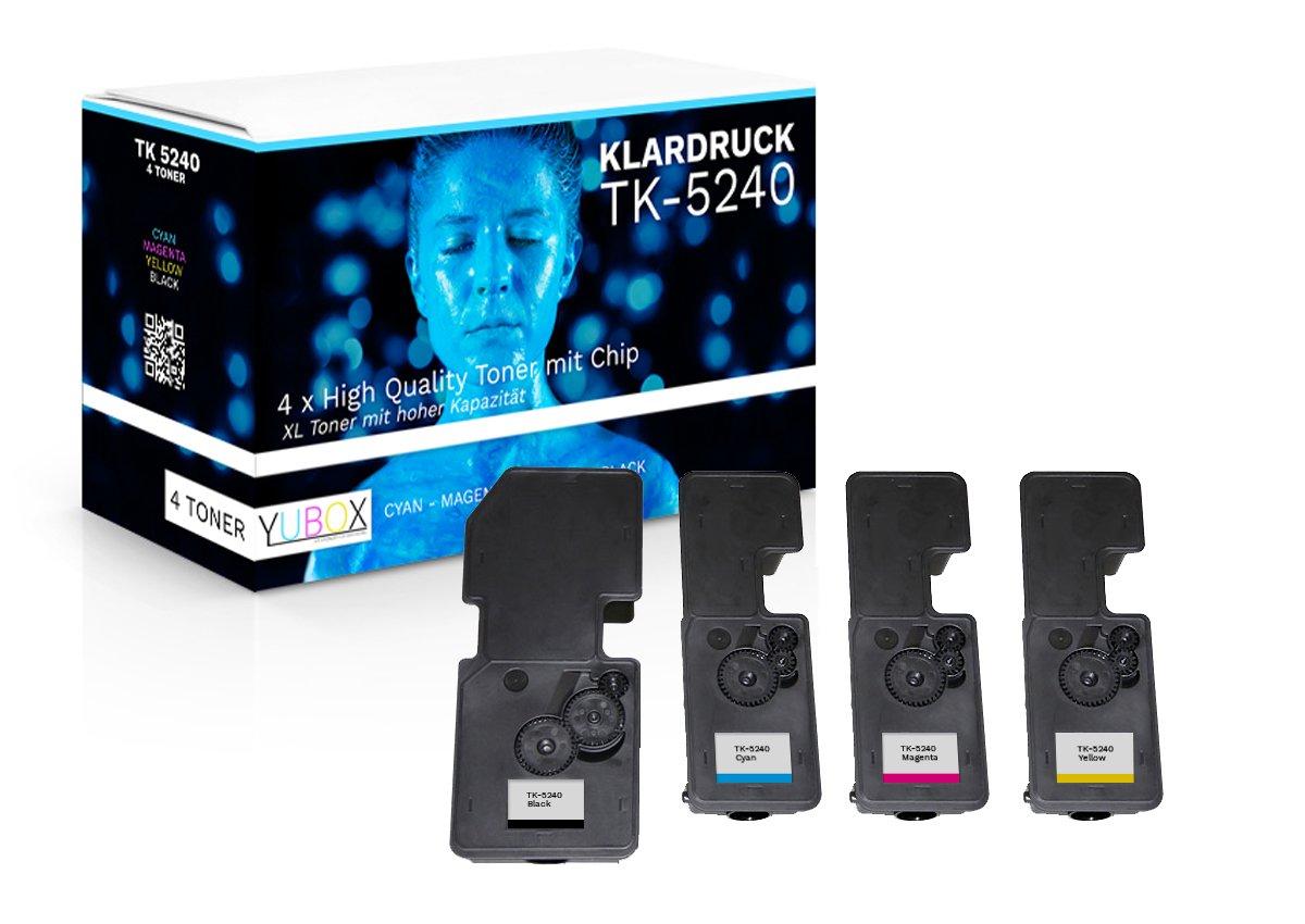 4er-Set-XL-Toner-kompatibel-zu-Kyocera-TK-5240-fr-Kyocera-Ecosys-M5526cdw-M5526cdn-P5026cdw-P5026cdn-mit-Chip-und-Fllstandsanzeige