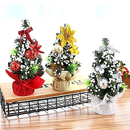 Vektenxi-Weihnachtsbaum-Schreibtisch-Baum-GoldrotSilber-fr-Home-Office-weihnachtsdekoration-1-stck-Silber-langlebig-und-praktisch