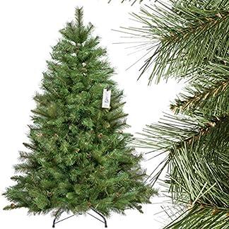 FairyTrees-knstlicher-Weihnachtsbaum-SKANDINAVISCHE-Tanne-Material-PVC-echte-Tannenzapfen-inkl-Metallstnder-FT16