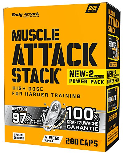 Body Attack Muscle Attack Stack (Betator 180 Kapseln, CREAZ ATP 100 Kapseln)