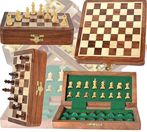 PalmRoyal-Hlzernes-Schachspiel-Magnetisches-Schach-34-Schachfiguren-Reiseschachspiel
