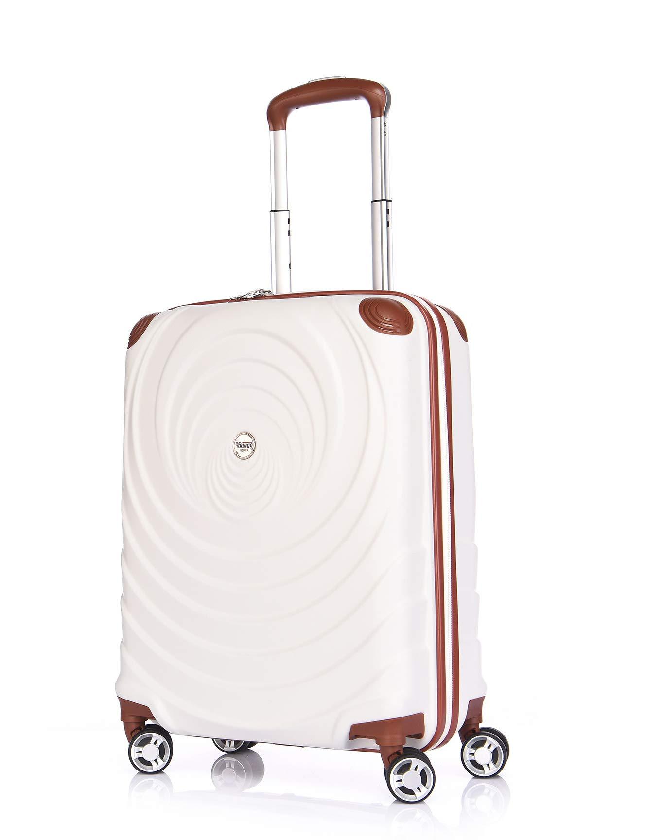 Verage-Spiral-4-Rollen-ABS-Hartschale-Reisekoffer-Handgepck-Trolley-Set-S-M-L-Schwarz-Champagne-Beige-Blau-TSA-integriert-erweiterbar