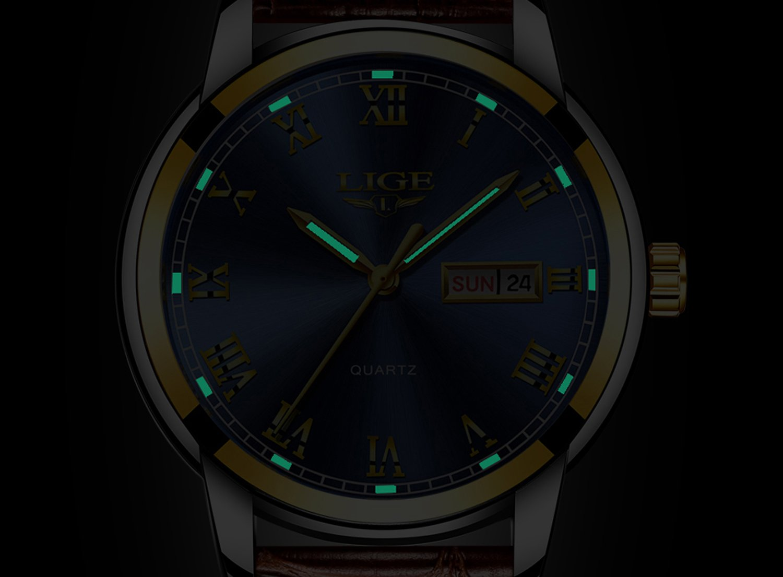 Business-Sportuhr-Herren-Uhr-Analog-Quarz-mit-Leder-Armband-9846