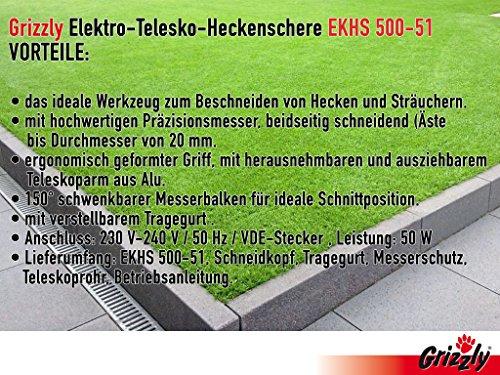 Grizzly-Elektro-Kombi-Heckenschere-EKHS-500-51-mit-herausnehmbaren-Teleskopstiel-2-Heckenscheren-zu-1-Preis-500-W-51-cm-Messerlnge-45-cm-Schnittlnge-20-mm-Schnittstrke
