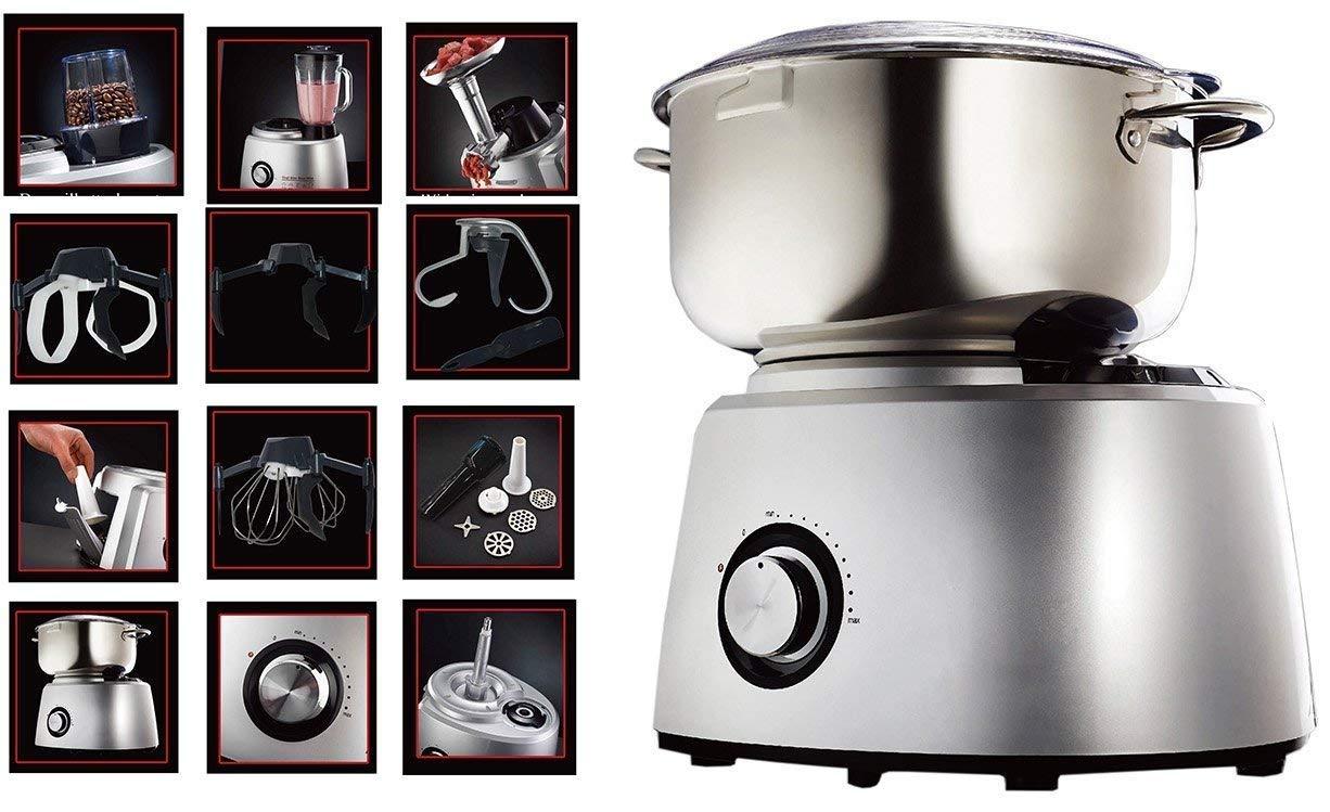DMS-6-Liter-Kchenmaschine-mit-1800-Watt-gebrstete-Edelstahl-Rhrschssel-Metallantrieb-Knetmaschine-Blender-Mhle-Fleischwolf-Rhrmaschine-mit-Pulse-Funktion-und-Spritzschutz-KMT-1800S