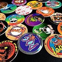 Canada-Games-WPF-POG-POGS-20-Assorted-MILKCAPS-CANADA-GAMES-Red-Back-POGMAN-Ultra-Rare-POG