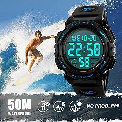 Herren-Digitale-Armbanduhr-Outdoor-Laufen-5-Bar-wasserdichte-militrische-Uhren-Cool-Sport-groe-Anzeige-LED-Sportuhr-mit-Wecker-fr-Herren