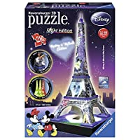 Ravensburger-Italy-Disney-Classics-Tour-Eiffel-Puzzle-3D-Building-Night-Edition-12520-Traditionell-100Stcke