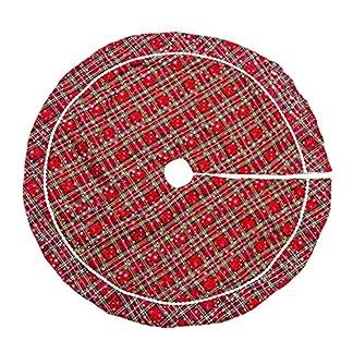 Whiie891203-Weihnachtsdeko-40inch-Schneeflocke-Schrze-weiches-Rock-Schrze-Rock-Carpet-Boden-Matte-Weihnachtsbaum-Decke-Deko-Christbaumstnder-Boden-Home-Hotel-Party-Dekorationen-Ornamente