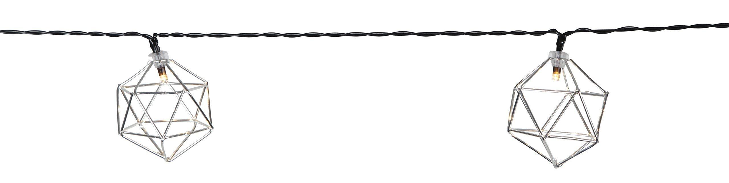 LED-Lichterkette-Edge-10-teilig-silberne-Ornamente-warmwhite-LED-schwarzes-Kabel-mit-Trafo