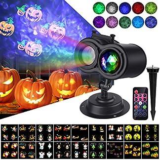 VIFLYKOO-LED-Projektionslampe-LED-Projektor-fr-Halloween-Karneval-Weihnachten-Innen-Auen-IP65-Garten-Wand-Beleuchtung