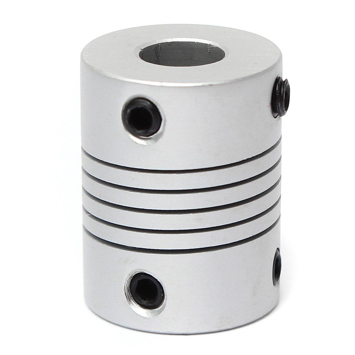 CHENXI-Shop-4-Stck-5-mm-x-10-mm-Aluminium-Flexibler-Schaft-Kupplung-od19-mm-X-L25-mm-CNC-Stepper-Motor-Kopplungskabel