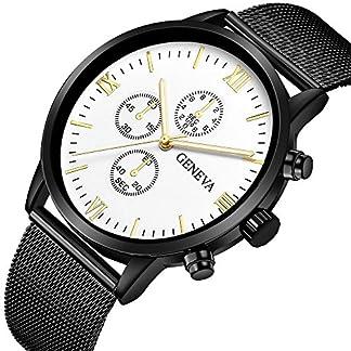 mesh-armbanduhr-for-herren-Wasserdicht-Sport-Edelstahl-Mesh-Schwarz-Dnne-Armbanduhren-Klassische-Elegant-Datum-Kalender-Analog-Quarz-Kleid-Blau-Herrenuhr