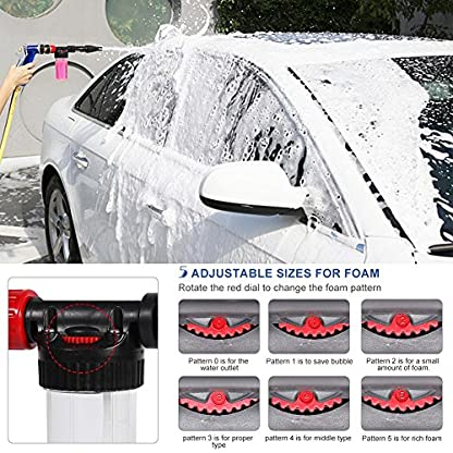 Schaumdse-Foam-Gun-Sprayer-2-in-1-Schaumlanze-Schaumpistole-Hochdruckreiniger-Auto-Reinigung-Foam-Gun-Waschen