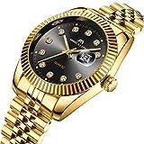 Herren-Uhren-Edelstahl-Mnner-Luxus-Elegant-Design-Wasserdicht-Datum-Kalender-Goldene-Uhr-Unisex-Business-Mode-Kleid-Analog-Quarz-Armbanduhr