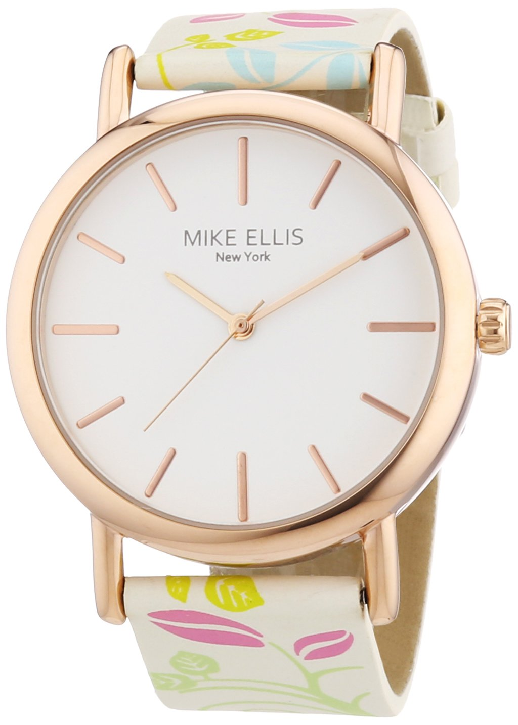 Mike-Ellis-New-York-Damen-Armbanduhr-Analog-Quarz-Kunstleder-L2979