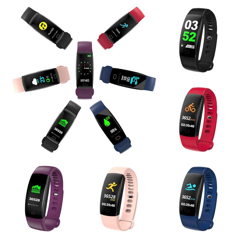 F64HR-Smart-Armband-mit-Blutdruckmessgert-Smart-Watch-mit-Wrmemonitor-Activity-Tracker-Smart-Armband-Wasserdichte-Fitnessuhr-mit-Schlafmonitor