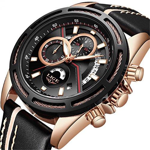Herren-Uhren-Top-Marke-Luxus-Sport-Chronograph-Business-Quarzuhr-Herren-Military-Wasserdicht-Armbanduhr