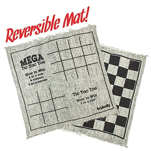 Brybelly-Giant-3-in-1-Checkers-and-Mega-Tic-Tac-Toe-with-Reversible-Rug-by-MIDWAY-MONSTERS