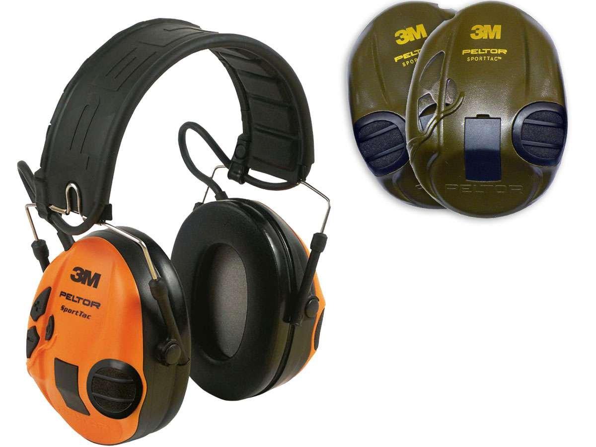 3M-Peltor-SportTac-Gehrschutz-Orange-Grn-zum-Jagen-und-Schieen