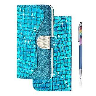 Finemoco-Glitzer-Hlle-PU-Leder-Brieftasche-Handyhlle-fr-iPhone-11