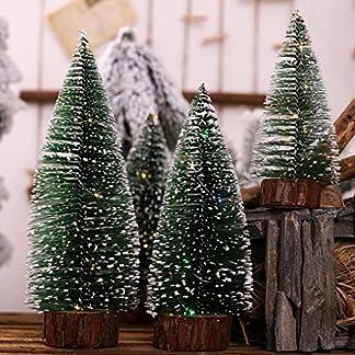 VNEIRW-Kiefernnadeln-und-weie-Zeder-die-Weihnachtsbaum-Dekorationen-mit-Beleuchtung-Sich-scharen-Pine-Needles-Weihnachtsbaum-Bonsai-klebriger-weier-Schnee-der-Bume-Sich-schart