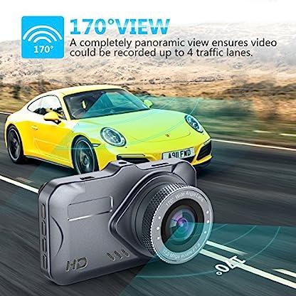 JSDTU-Dash-Cam-Kamera-fr-Autos-mit-Full-HD-1080P-170-Grad-Super-Weitwinkel-Kameras-30-TFT-Display-G-Sensor-WDR-Loop-Recording