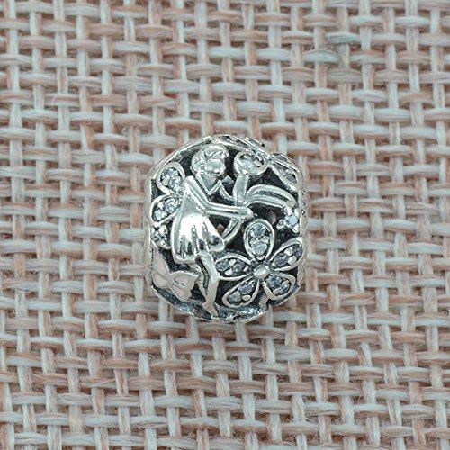 Bluebird Glanzvolle Elfe Charm 925 Sterling Silber DIY passt Pandora Armband und HalsKette