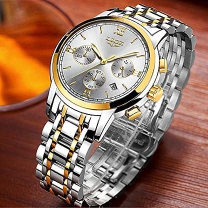Uhren-fr-HerrenLIGE-Edelstahl-Chronograph-Sport-Analog-Quarzuhr-Wasserdichte-Datum-Mode-Casual-Luxus-Armbanduhren-Gold-Silber