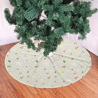 Weihnachtsbaum-RockMuster-drucken-36-Zoll-90-cm-Anders-Dauerhaft-Runde-Weihnachtsbaumrcke-fr