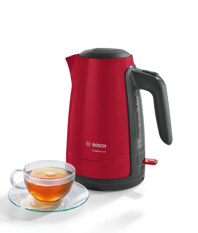 Bosch-TWK6A014-Wasserkocher-ComfortLine-1-Tassen-Funktion-Dampfstopp-Automatik-entnehmen-Kalkfilter-2400-W-rotanthrazit