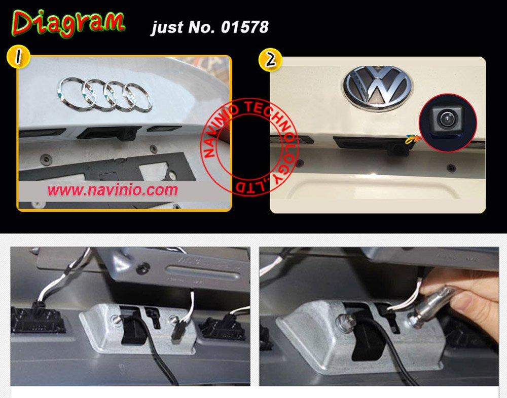 Auto-Rckfahrkamera-verbesserte-Einparkhilfe-mit-8IR-Nachtsicht-170-Weitwinkel-Wasserdicht-Hoche-Defination-schwarz-fr-Rckfahrkamera-VW-Passat-Tiguan-Touareg-Golf-VI-Variant-Audi-A4-A3-A6L-A8-Q5