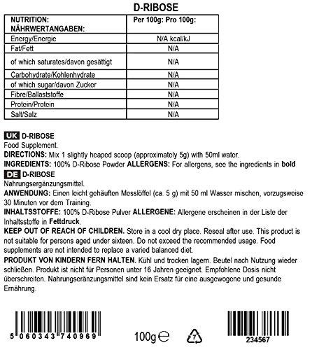 BULK POWDERS D-Ribose, 100 g