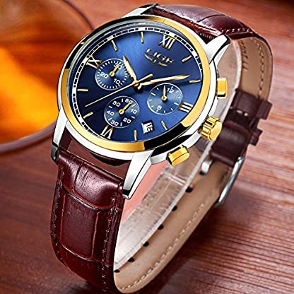 Herren-Fashion-Business-Quarzuhr-Lige-Classic-Casual-Analog-Sport-Armbanduhr