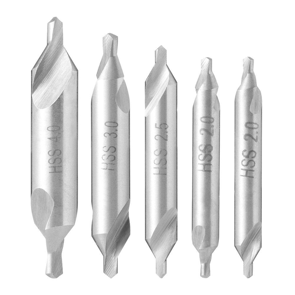 Xcsource-5-Stck-HSS-A-Zentrierbohrer-Senkkopf-Drehbohrer-Satz-60-15-2-25-4mm-Industriewerkzeuge-BI340