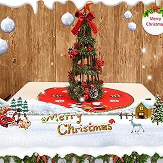 Amosfun-Vlies-Leinen-Sackleinen-Weihnachtsbaum-Rock-Weihnachten-Liefert-Schneemann-Santa-Schnee-Baum-Muster-Festival-Hauptdekorationen-rot