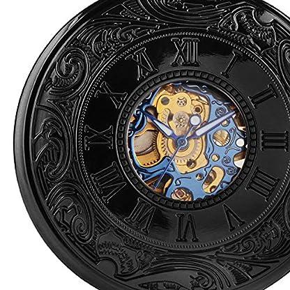 Alienwork-Retro-Handaufzug-mechanische-Taschenuhr-Skelett-Uhr-Herren-Uhren-graviert-vintage-Metall-blau-schwarz-W891B-02