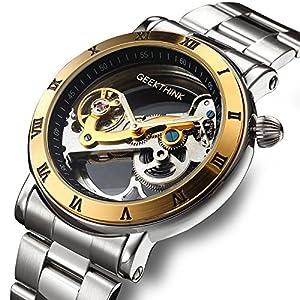 affute-Automatische-Mechanische-Uhren-Herren-Klassisches-Skelett-Edelstahl-Riemen-self-wind-Analog-Armbanduhr-Silber