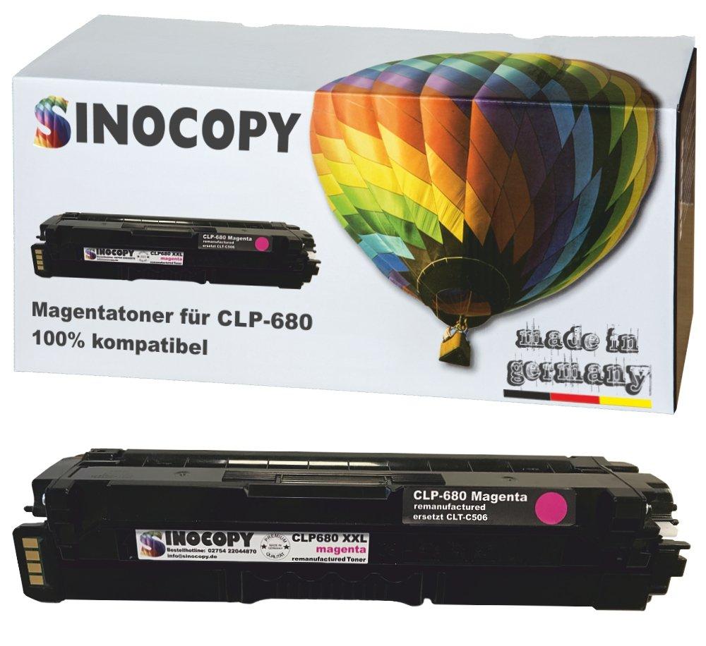 SinoCopy-XXL-Magenta-Toner-fr-Samsung-CLP-680-M-3500-Seiten-S-kompatibel-zu-Samsung-CLP-680-DW-ND-Series-CLX-6260-FD-FR-FW-ND-CLT-K506L-C506L-M506L-Y506L