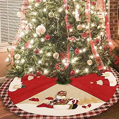 Jingle-Star-Weihnachtsbaum-Decke-Rund-Christbaumstnder-Teppich-Mit-Weihnachtlichem-Motiv-Weihnachtsbaum-Boden-Teppich-Rot-Weihnachtsdeko-100cm