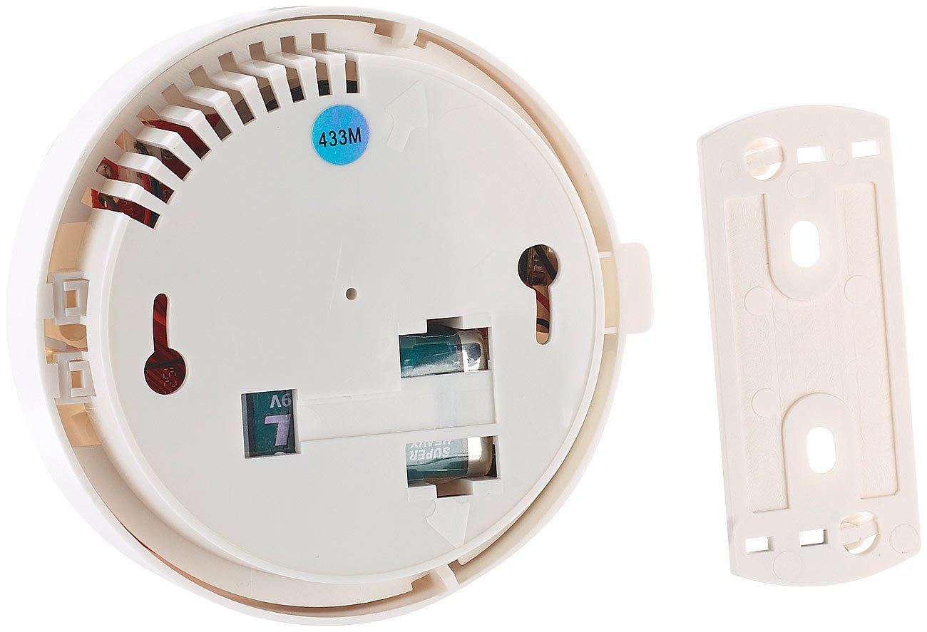 VisorTech-Zubehr-zu-Kabellose-Alarmanlage-Funk-Rauchsensor-fr-Alarmanlage-XMD-42004400pro5400WiFi-Funk-Alarmanlage-Komplettsystem