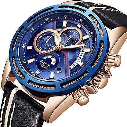 Uhren-HerrenLIGE-Wasserdicht-Chronograph-Sport-Militr-Analog-Quarzuhr-Lederarmband-Mode-Casual-Kleid-Armbanduhr