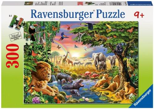 Ravensburger-13073-Abendsonne-am-Wasserloch