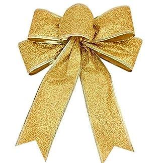 Astra-Gourmet-10-Stck-Rot-Gold-Edge-Outdoor-Draht-Edge-Glitter-Weihnachten-Schleifen-249-x-198-cm