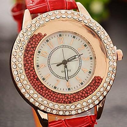MJARTORIA-Damen-Analog-Quarzuhr-Doppel-Treibsand-Strass-Glitzer-Zifferblatt-Rot-PU-Leder-Armband-Frauen-Rosegold-Farbe-Armbanduhr-Geschenk