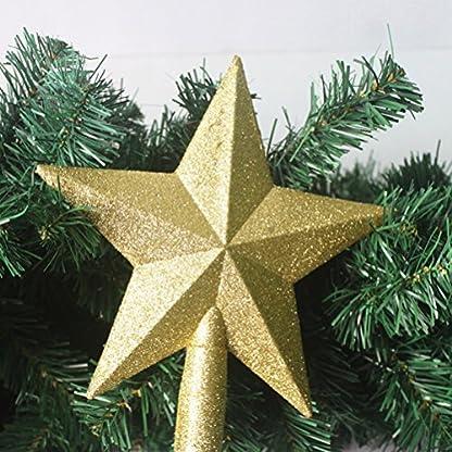 OULII-Christbaumspitze-Stern-Verzierung-Glitter-Baum-Stern-Weihnachtsdekoration