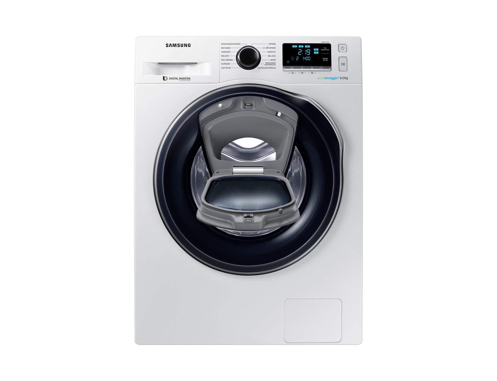 Samsung-WW9RK6404QWET-Freistehend-Frontlader-9-kg-1400-Girimin-A-40-Wei-Waschmaschine